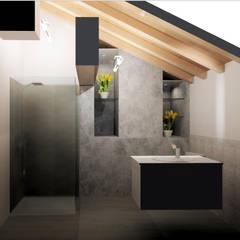 INDUSTRIALE MODERNO: Bagno in stile in stile Industriale di ARCH. CRISTINA MASCHIO