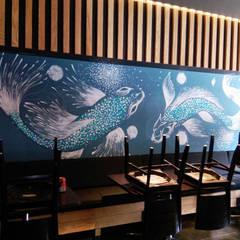 Cadena de restaurantes de Sushi: Comedores de estilo minimalista por Designo Arquitectos