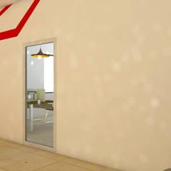 INGRESO A OFICINA: Oficinas y tiendas de estilo  por FARO 105 Arquitectos