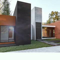 Fachada principal: Casas de campo de estilo  por Novhus Oficina de Arquitectura