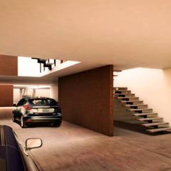 SADE: Garajes de estilo  por WERHAUS ARQUITECTOS