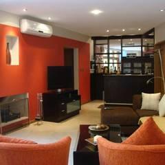 Casa LF - Living 1: Livings de estilo moderno por Módulo 3 arquitectura