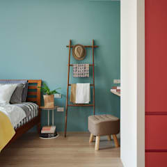 Dormitorios de estilo  por 一葉藍朵設計家飾所 A Lentil Design