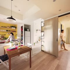 اتاق غذاخوری by 一葉藍朵設計家飾所 A Lentil Design