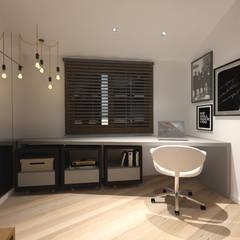 Dormitório masculino: Quartos  por Cláudia Legonde