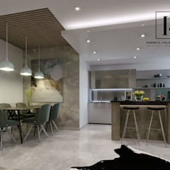 Apartment 1:  غرفة السفرة تنفيذ Karim Elhalawany Studio