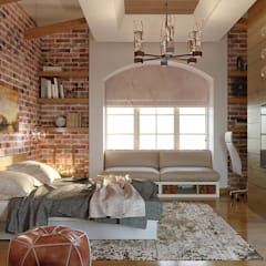 Bedroom 1:  غرفة نوم تنفيذ Karim Elhalawany Studio
