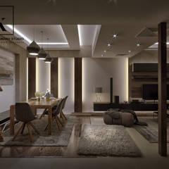 Sheraton Helioplis Appartment:  غرفة المعيشة تنفيذ Karim Elhalawany Studio
