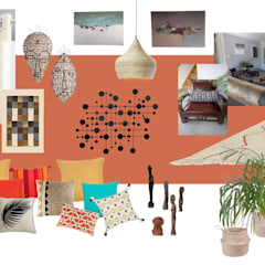 agencement et décoration d'une pièce à vivre: Salon de style  par MarieHélèneD&Co