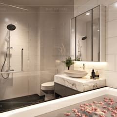 Thiết kế nội thất nhà phố, biệt thự phong cách hiện đại:  Phòng tắm by ICON INTERIOR