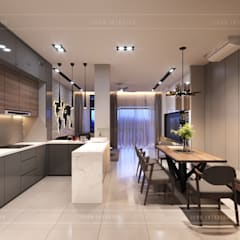 Thiết kế nội thất nhà phố, biệt thự phong cách hiện đại:  Nhà bếp by ICON INTERIOR