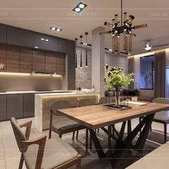 Thiết kế nội thất nhà phố, biệt thự phong cách hiện đại:  Phòng ăn by ICON INTERIOR