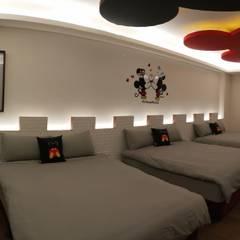 造型床頭背景牆:  商業空間 by 頂尖室內設計工程行
