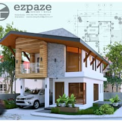 Modern tropical design:  Single family home by ezpaze design+build