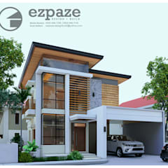 Modern asian style:  Single family home by ezpaze design+build,