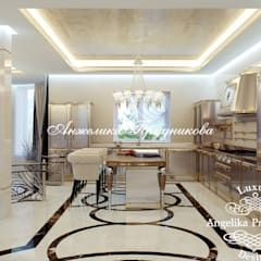 Дизайн-студия элитных интерьеров Анжелики Прудниковойが手掛けた屋根
