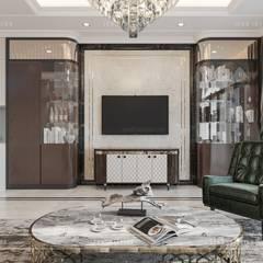Thiết kế nội thất biệt thự phong cách Tân Cổ Điển sang trọng đẳng cấp:  Phòng khách by ICON INTERIOR