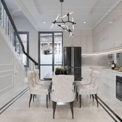 Thiết kế nội thất biệt thự phong cách Tân Cổ Điển sang trọng đẳng cấp:  Phòng ăn by ICON INTERIOR