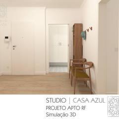 Projeto Apartamento RF: Corredores e halls de entrada  por Studio Casa Azul