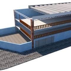 Arquitetura Residencial Casa Contêiner naval: Edifícios comerciais  por wilsonarquitetura