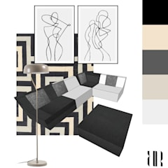 Idea de mobiliario para salón con sofá modular.: Comedores de estilo  de RR Estudio Interiorismo