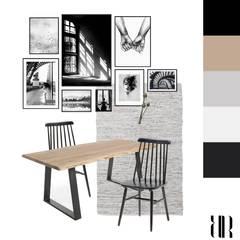Idea de comedor con mesa para 4 personas de madera.: Comedores de estilo  de RR Estudio Interiorismo