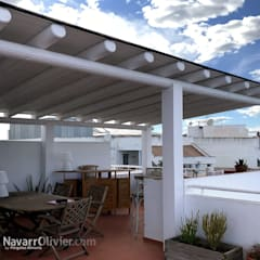 Lean-to roof by NavarrOlivier, Rustic Wood Wood effect