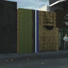 Coffe : Casas de madera de estilo  por GT-R Arquitectos