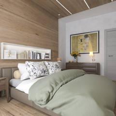 Progetto villa smart: Camera da letto in stile  di studiosagitair