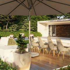 Moradia t2 - 125 m2 - Engenharia LSF: Jardins de Inverno  por Strobe Decor