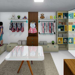 Projeto Espaço Comercial: Espaços comerciais  por Studio 3D+