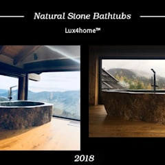 Stone Bathtub for sale: country Bathroom by Lux4home™ Indonesia