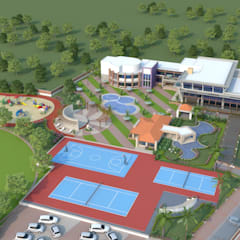NEONZ LIFESTYLE AND RECREATION CLUB AND RESORT:  Hotels by Hardik Soni Architects