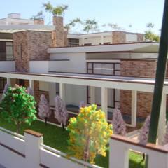 EXTERIOR :  Bungalows by Hardik Soni Architects