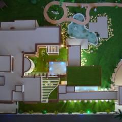 COURTYARD:  Bungalows by Hardik Soni Architects