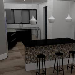Imagem de projeto em 3D : Armários e bancadas de cozinha  por STUDIO SPECIALE - ARQUITETURA & INTERIORES