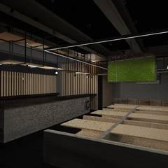 Restaurante Sushi 🍜: Restaurantes de estilo  por Designo Arquitectos
