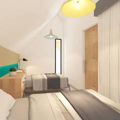 Habitaciones para adolescentes de estilo  por Atelier BAOU+