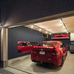 Garajes prefabricados de estilo  por 建築デザイン工房kocochi空間