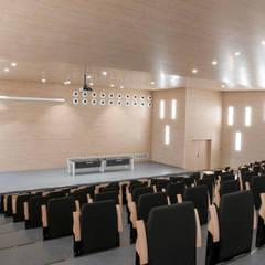 Auditorio desde arriba: Salas multimedia de estilo  de Piconto interiorismo y decoracion