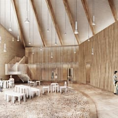 Salones de eventos de estilo  por FISCHER & PARTNER lichtdesign. planung. realisierung