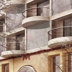 Neubau Malplaquetstraße :  Mehrfamilienhaus von FISCHER & PARTNER lichtdesign. planung. realisierung