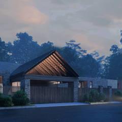 """Дом в коттеджном поселке """"Изумрудный"""": Дома в . Автор – Архитектурная студия Чадо"""