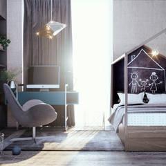 Интерьер дома в коттеджном поселке «Ясная Поляна» — 2: Детские комнаты в . Автор – Архитектурная студия Чадо