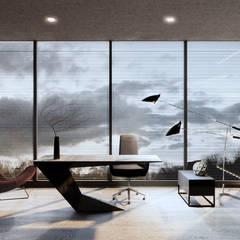 Интерьер дома в коттеджном поселке «Ясная Поляна» — 2: Рабочие кабинеты в . Автор – Архитектурная студия Чадо