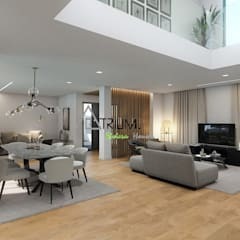 Single house - Cascais: modern Living room by Atrium Projetos e Construção