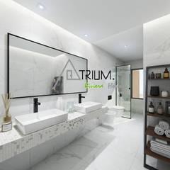 Bathroom by Atrium Projetos e Construção
