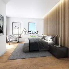 Single house - Cascais: modern Bedroom by Atrium Projetos e Construção
