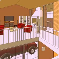 Vista desde el Comedor hacia la planta baja: Livings de estilo  por Arq.SusanaCruz