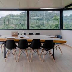 RESIDENCIA ESTUDIANTES: Estudios y oficinas de estilo industrial por ELIZABETH BACA